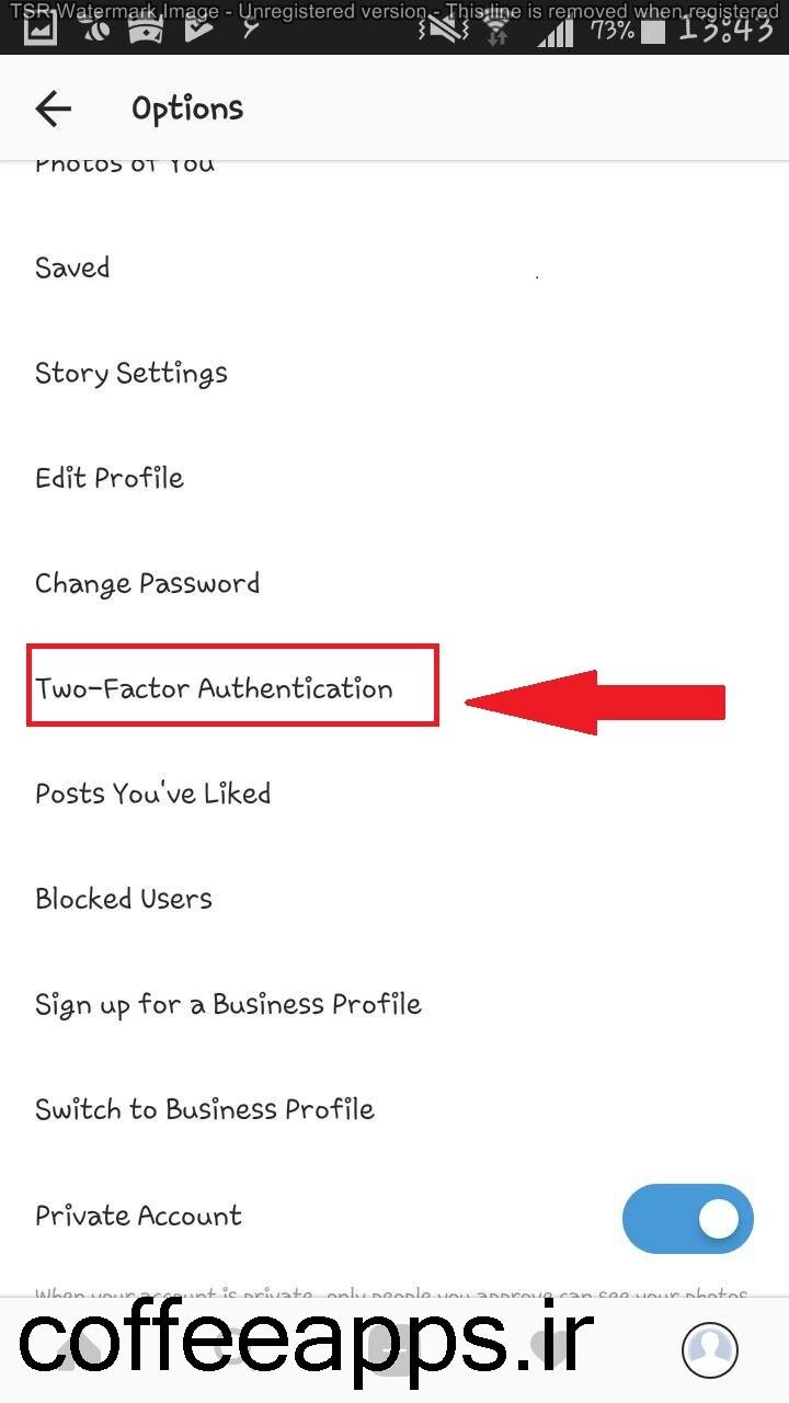 اموزش افزایش امنیت اکانت اینستاگرام و دو مرحله ای کردن رمز ورود