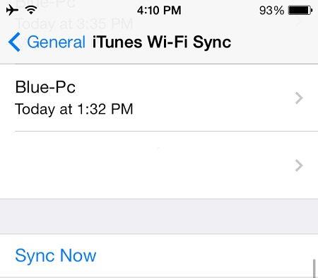 1394373013 itunes wifi sync 1 - آموزش وصل کردن آیفون و آیپد به آیتونز Connect iPhone to iTunes