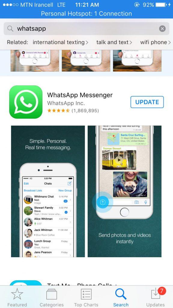 2 36 576x1024 - دانلود واتس اپ برای آیفون و آیپد WhatsApp For ios