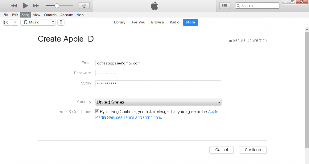 4 1 1024x545 - آموزش ساخت اپل آیدی برای کاربران ایرانی Create Apple ID