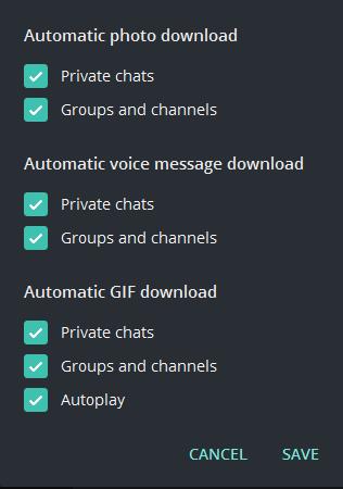 3 1 - غیر فعال کردن دانلود اتوماتیک در تلگرام برای ویندوز