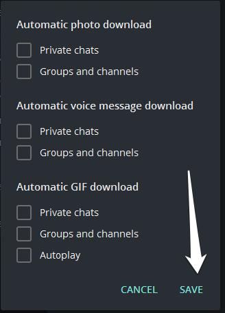 4 1 - غیر فعال کردن دانلود اتوماتیک در تلگرام برای ویندوز
