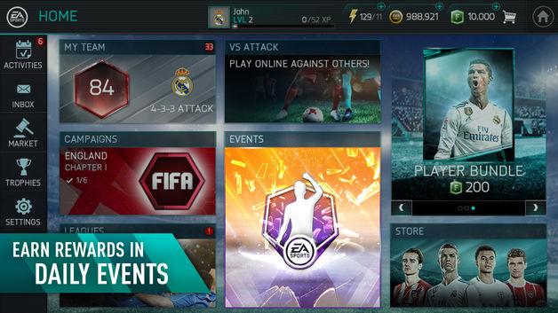 4 21 - دانلود بازی فوتبال فیفا 18 برای آیفون و آیپد FIFA 18 ios