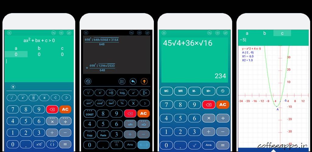 دانلود برنامه ماشین حساب پیشرفته Scientific calculator برای اندروید