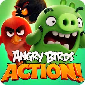 دانلود نسخه مود شده بازی جذاب Angry Birds Action برای اندروید