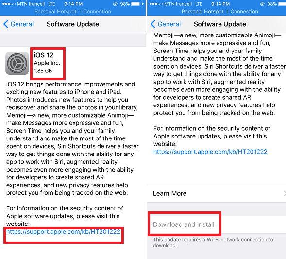 2 - همین الان کاربران اپلی IOS 12 را در گوشی خود نصب کنید!