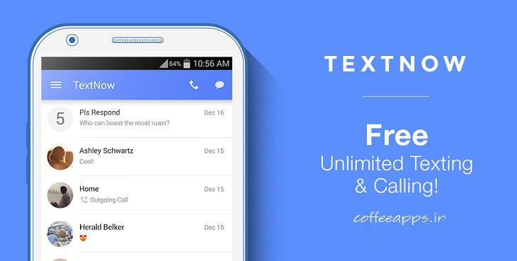 TextNow android - دانلود برنامه ساخت شماره مجازی آمریکا و کانادا برای اندروید TextNow