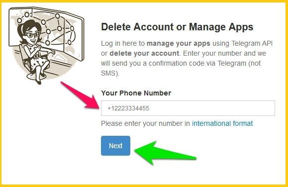 1 10 - دیلیت اکانت تلگرام طلایی Delete Account Telegram Talaei