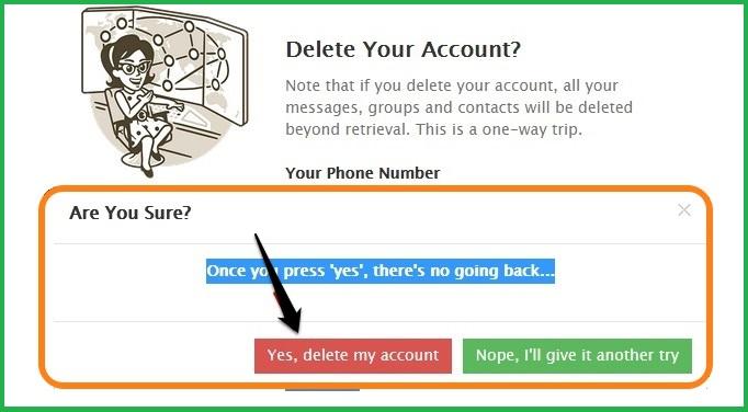 4 - دیلیت اکانت تلگرام طلایی Delete Account Telegram Talaei