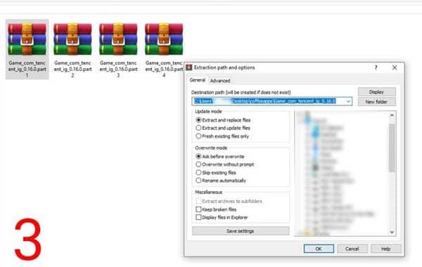 اموزش استخراج فایل فشرده پابجی 3